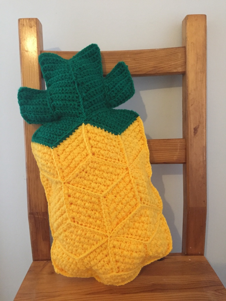 Continuing The Pineapple Theme With A Crochet Pineapple Cushion