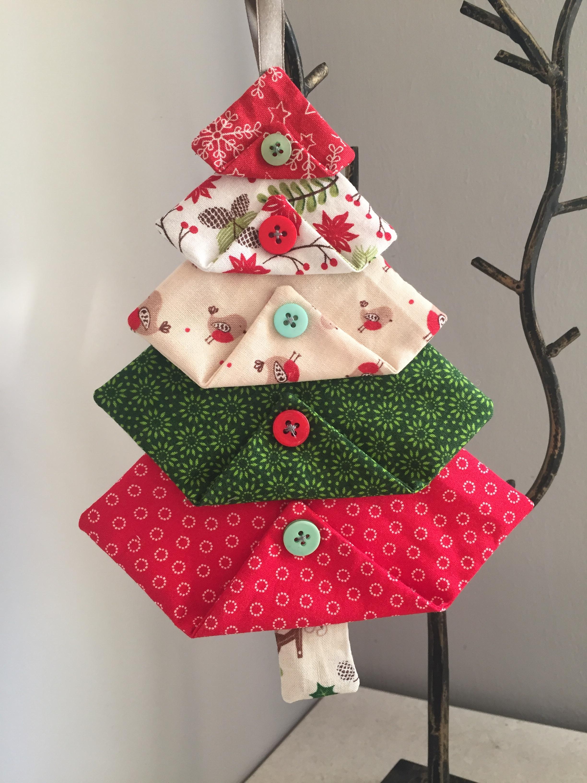 Fabric Christmas Tree Decorations Hook Stitch Sew